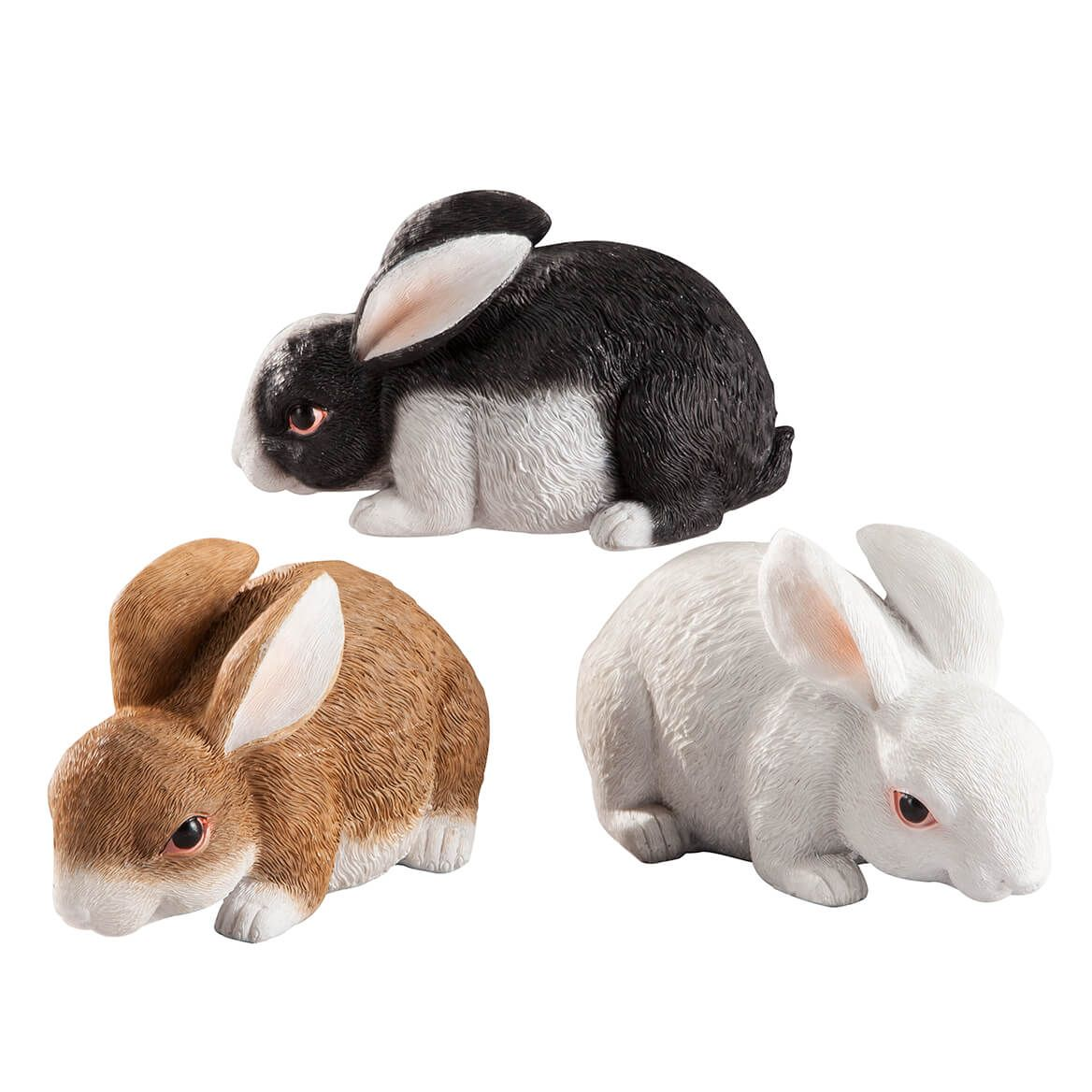 Resin Bunny Statues Set of 3-364499