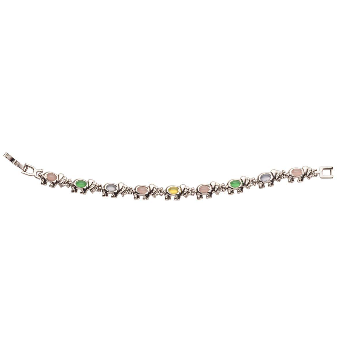 Magnetic Multi Colored Elephant Bracelet-364544