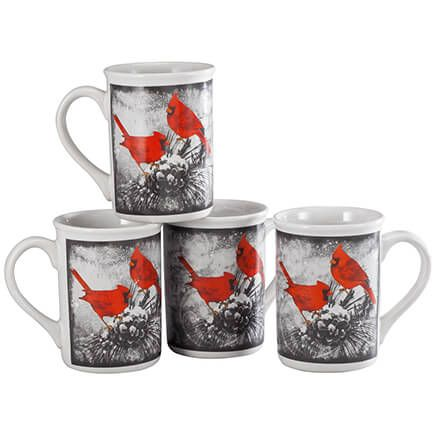 William Roberts Cardinal Mugs, Set of 4-364649