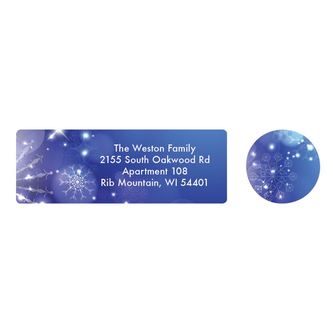 Personalized Winter Snow Globe Address Labels & Seals 20-364720
