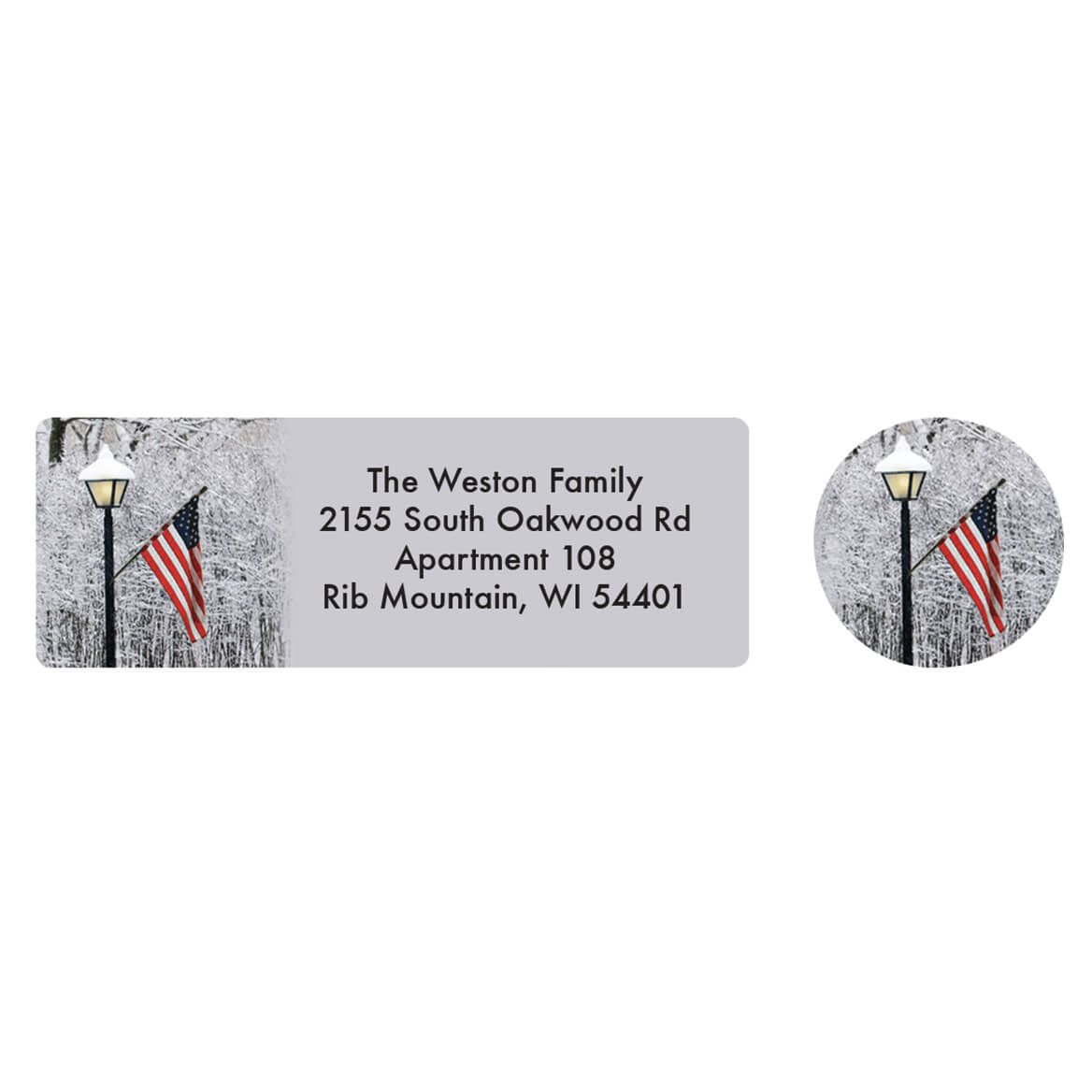 Personalized Patriotic Lamppost Address Labels & Seals 20-364736