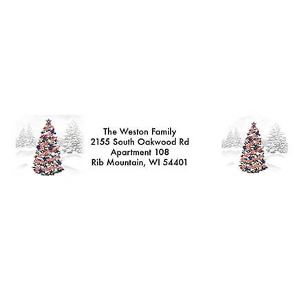Personalized Patriotic Tree Address Labels & Seals 20-364738