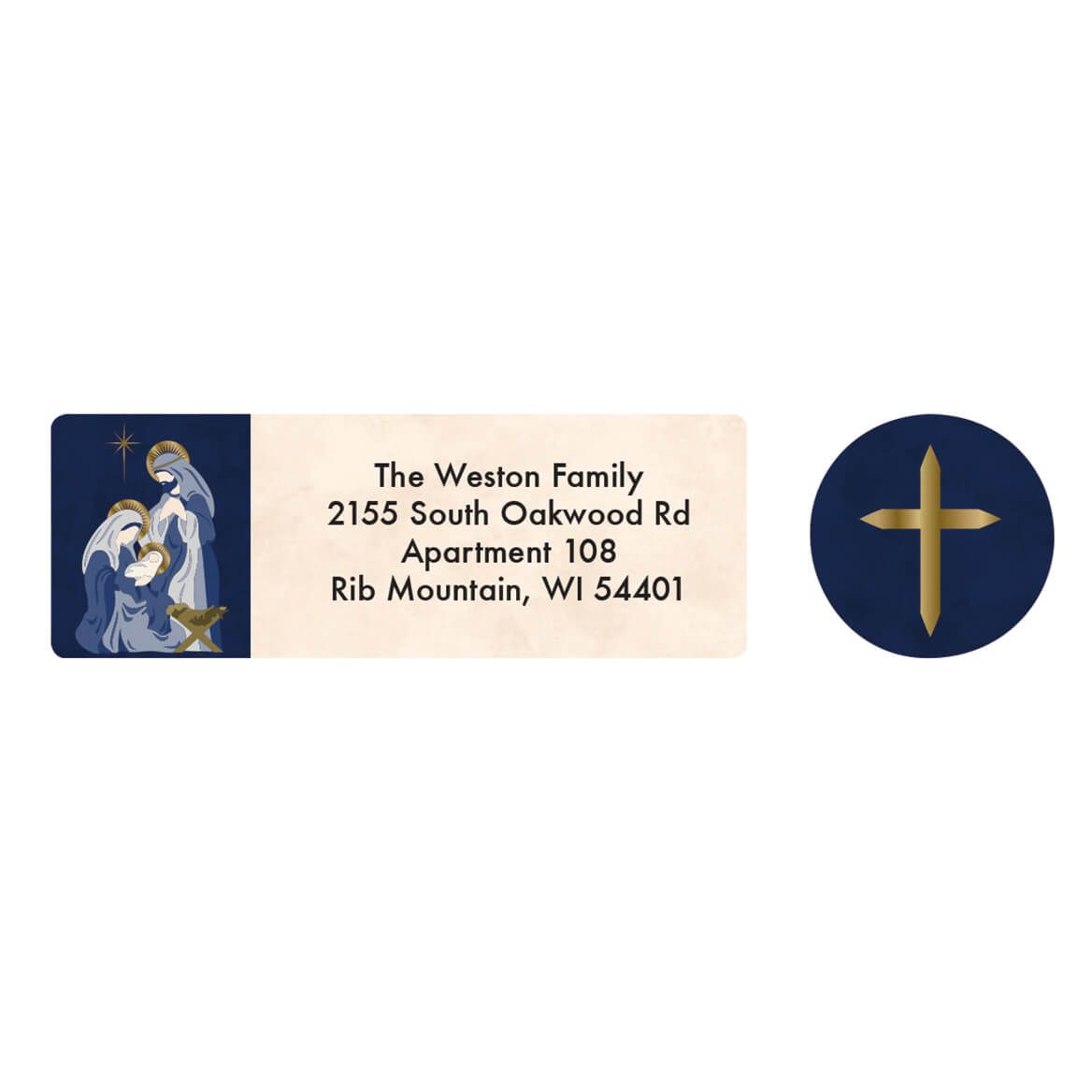 Personalized Nativity Arches Address Labels & Envelope Seal 20-364741
