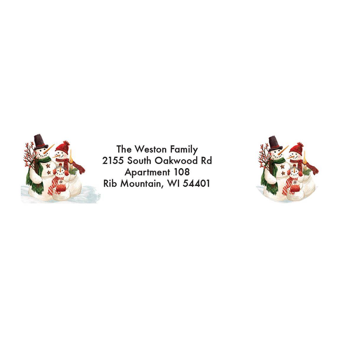 Personalized Calico Snowman Address Labels & Envelope Seals 20-364776