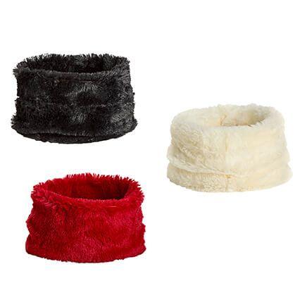 Posh Plush Head Warmers Set of Black, Red, Ivory-364860