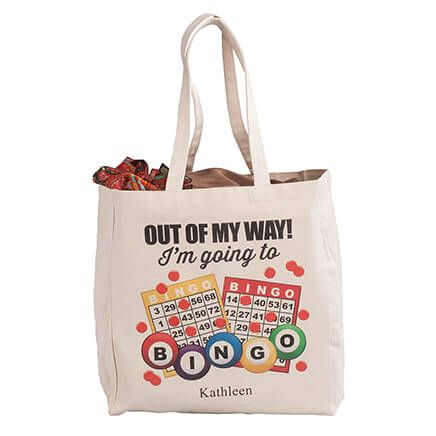 Personalized I'm Going to Bingo Tote-364946