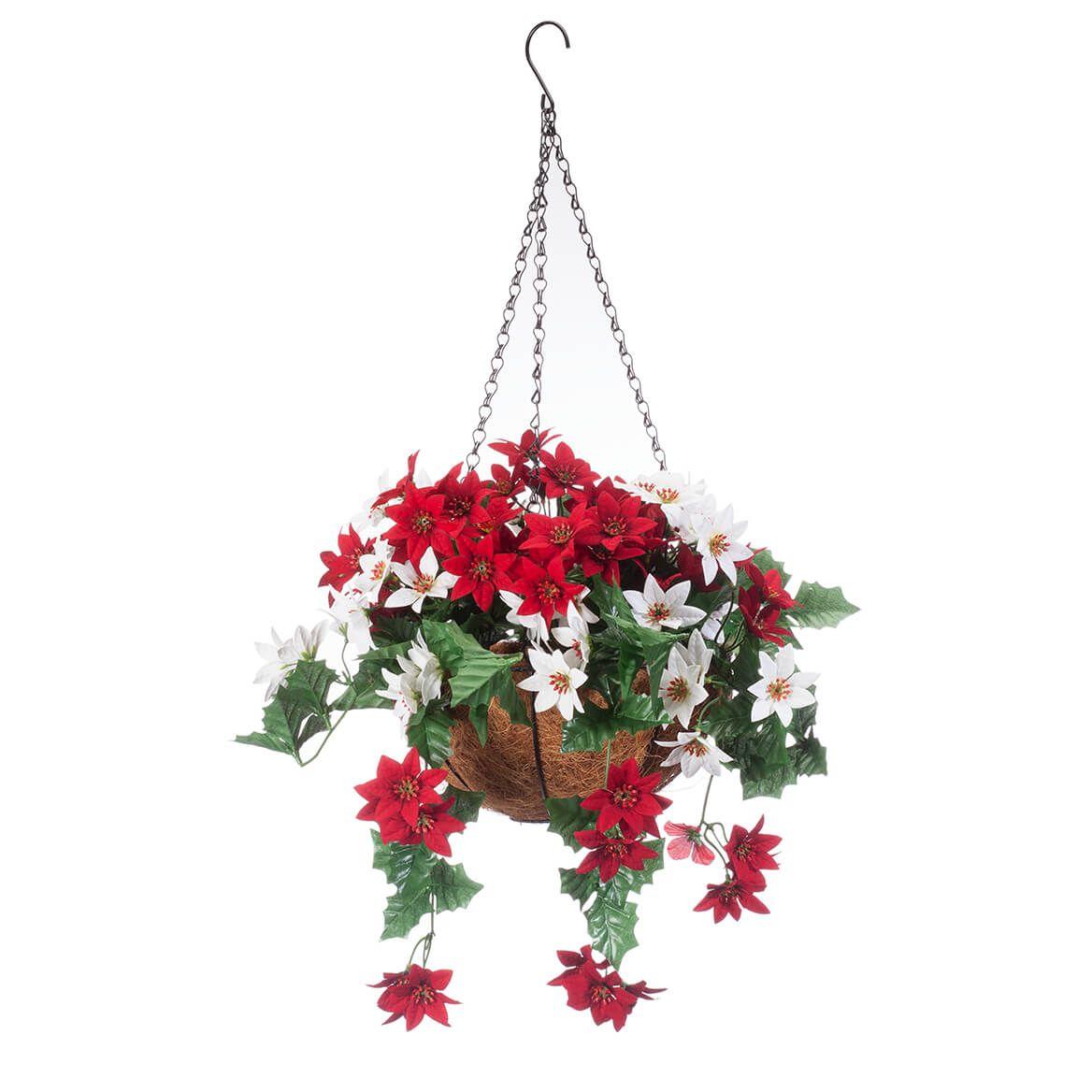 Fully Assembled Mini Poinsettia Hanging Basket by Oakridge™-365025