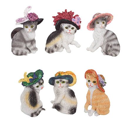 Cats with Hats Magnets - Set of 6-365423