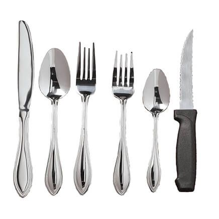 Pfaltzgraff® American Bead 53 Pc. Stainless Flatware Set