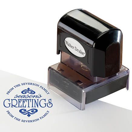 Personalized Season's Greeting Stamper-365614