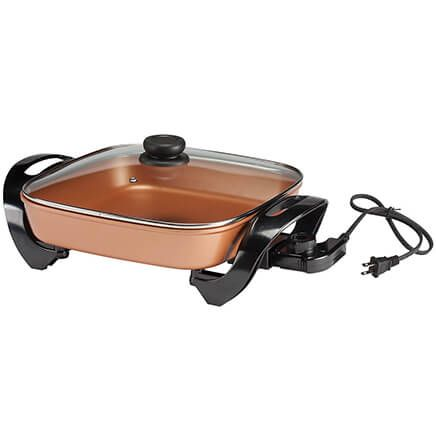 Home Style Kitchen Copper Ceramic Electric Skillet-365643