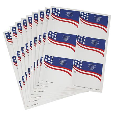 Personalized Flags Mailing Labels-365729