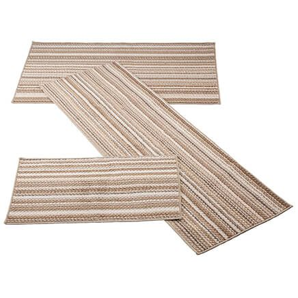 Berber 3-Piece Striped Rug Set-366069