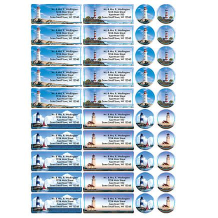 Personalized Tranquil Lighthouses Labels and Seals, Set of 60-366169