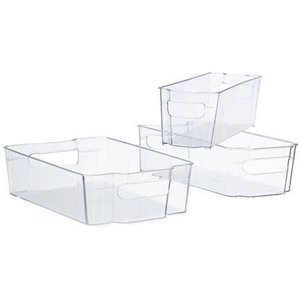 Refrigerator Plastic Bin Set, 3 Pieces-366193