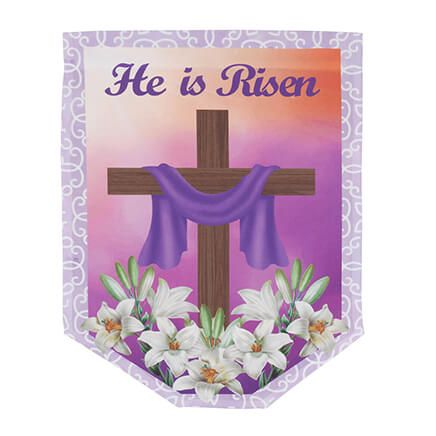 He is Risen Garden Flag-366336