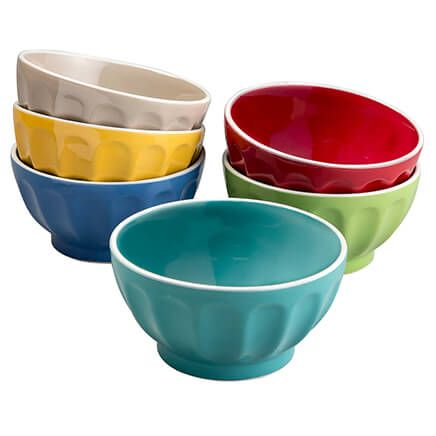 Gibson Set/6 Assorted Color Fun Bowls-366785