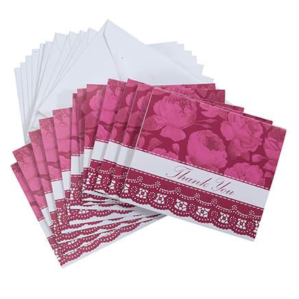 Floral Lace Thank You Cards Set of 12-367142