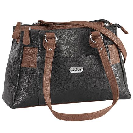 B.Amici™ Nicole RFID Greenwich Multi Pocket Leather Satchel-367449