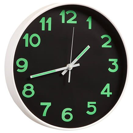 Glow-in-the-Dark Wall Clock-367456
