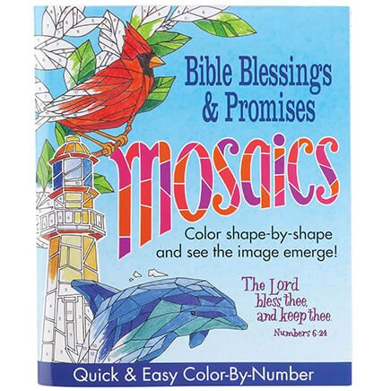 Mosaics Color-By-Number Bible Blessings & Promises Book-367469
