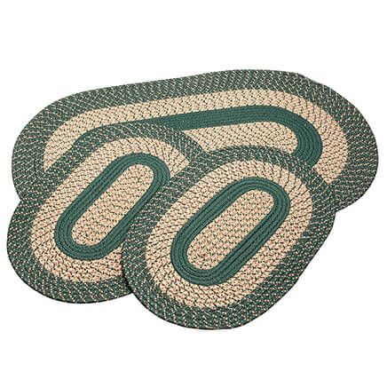 Spruce 3-Piece Two-Tone Braided Rug Set by OakRidge™-367536