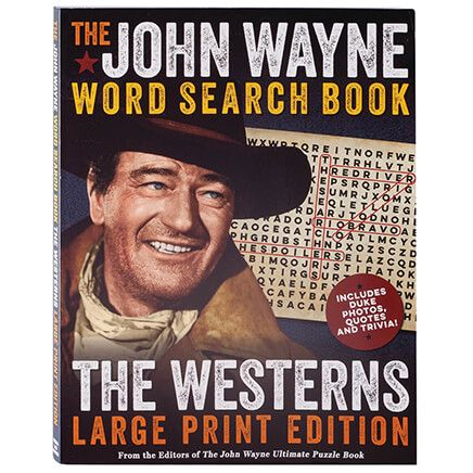 John Wayne Word Search Book, The Westerns Large Print Edition-367584