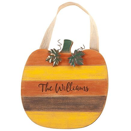 Personalized Pumpkin Door Hanger-367589