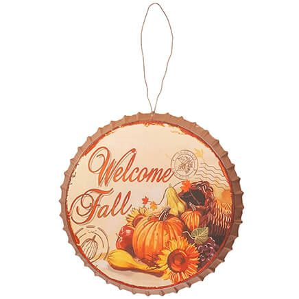 Metal Bottlecap Harvest Sign by Fox River Creations™-367611