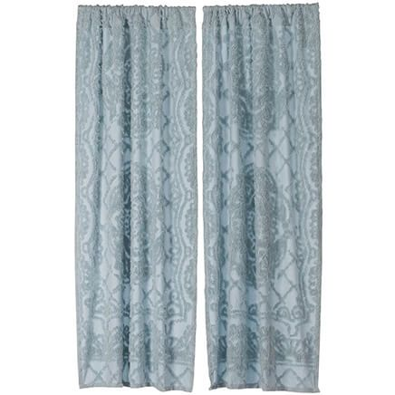 Trevor Chenille Curtain Panel Pair-367630