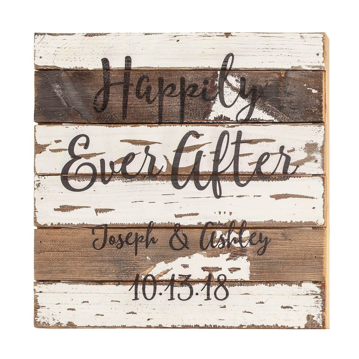 Personalized Happily Ever After Reclaimed Wood Sign-367661