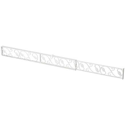 Decorative Sliding Door Security Bar, White-367910