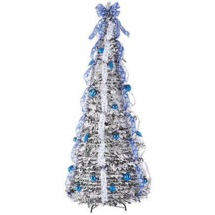 7' Snow Frosted Winter Style Pull-Up Tree by Holiday Peak™-367933