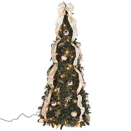 4-ft. Silver & Gold Pull-Up Tree-368086