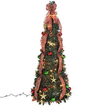 4-ft. Plaid Pull-Up Tree-368142