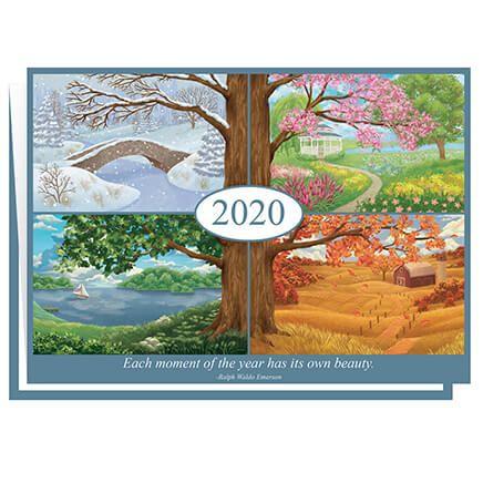 Personalized Four Seasons Calendar Christmas Card Set of 20-368219