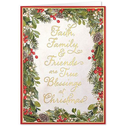Personalized Faith, Family, Friends Christmas Card Set of 20-368253