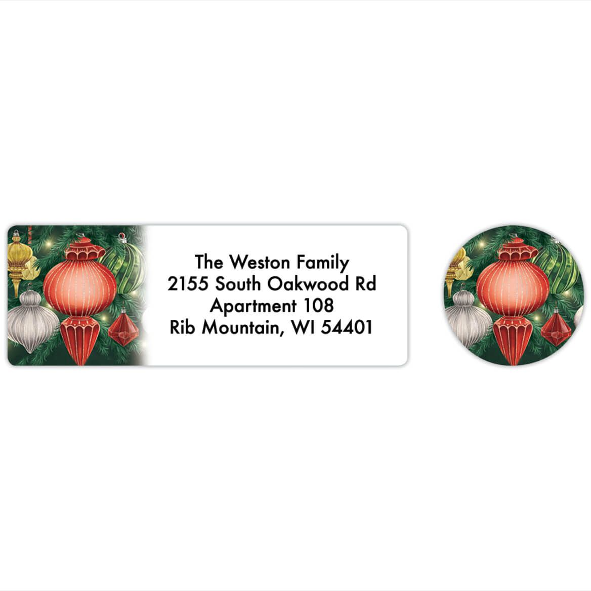 Personalized Twinkling Ornaments Labels & Envelope Seals 20-368270