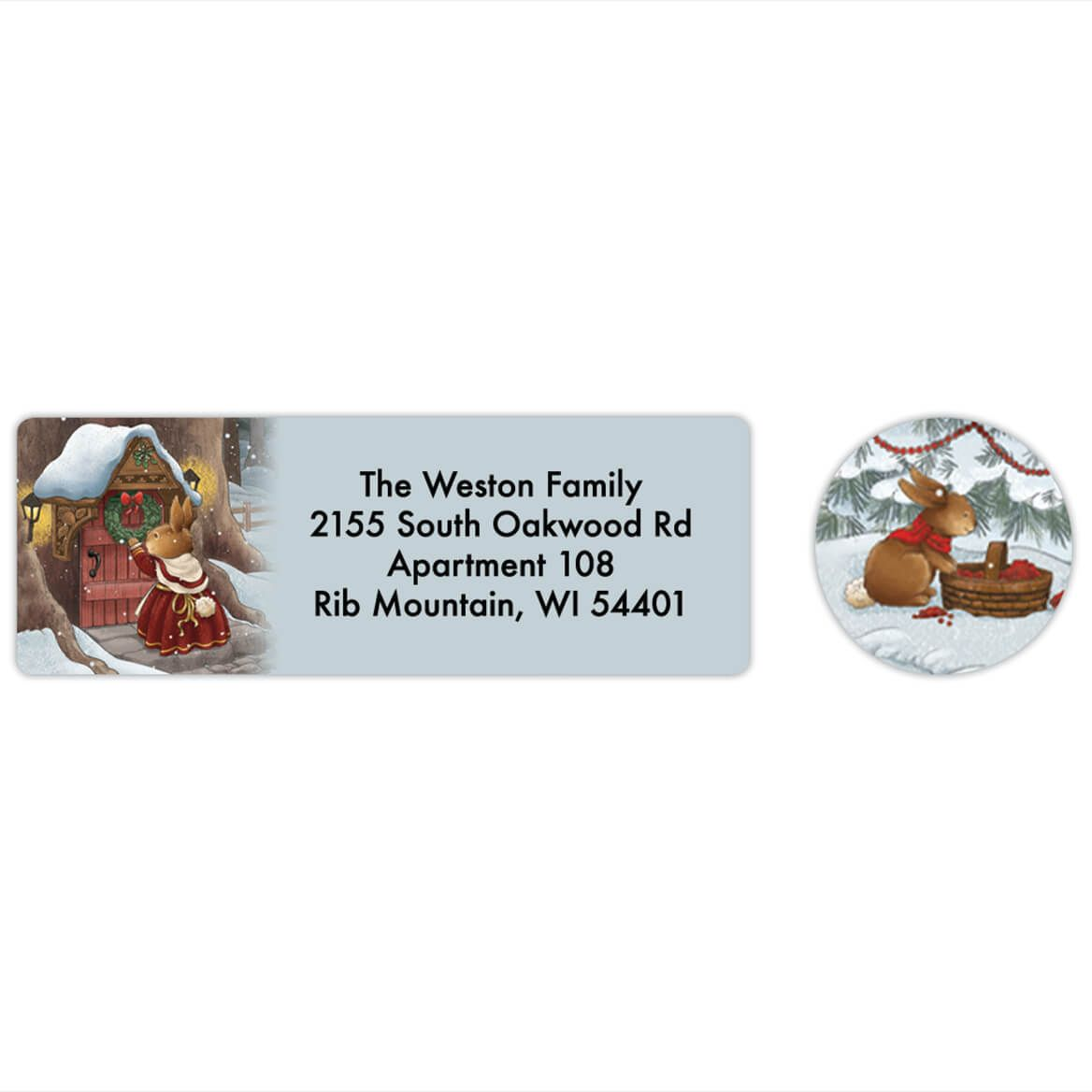 Personalized The Night Before Christmas Labels & Seals 20-368273