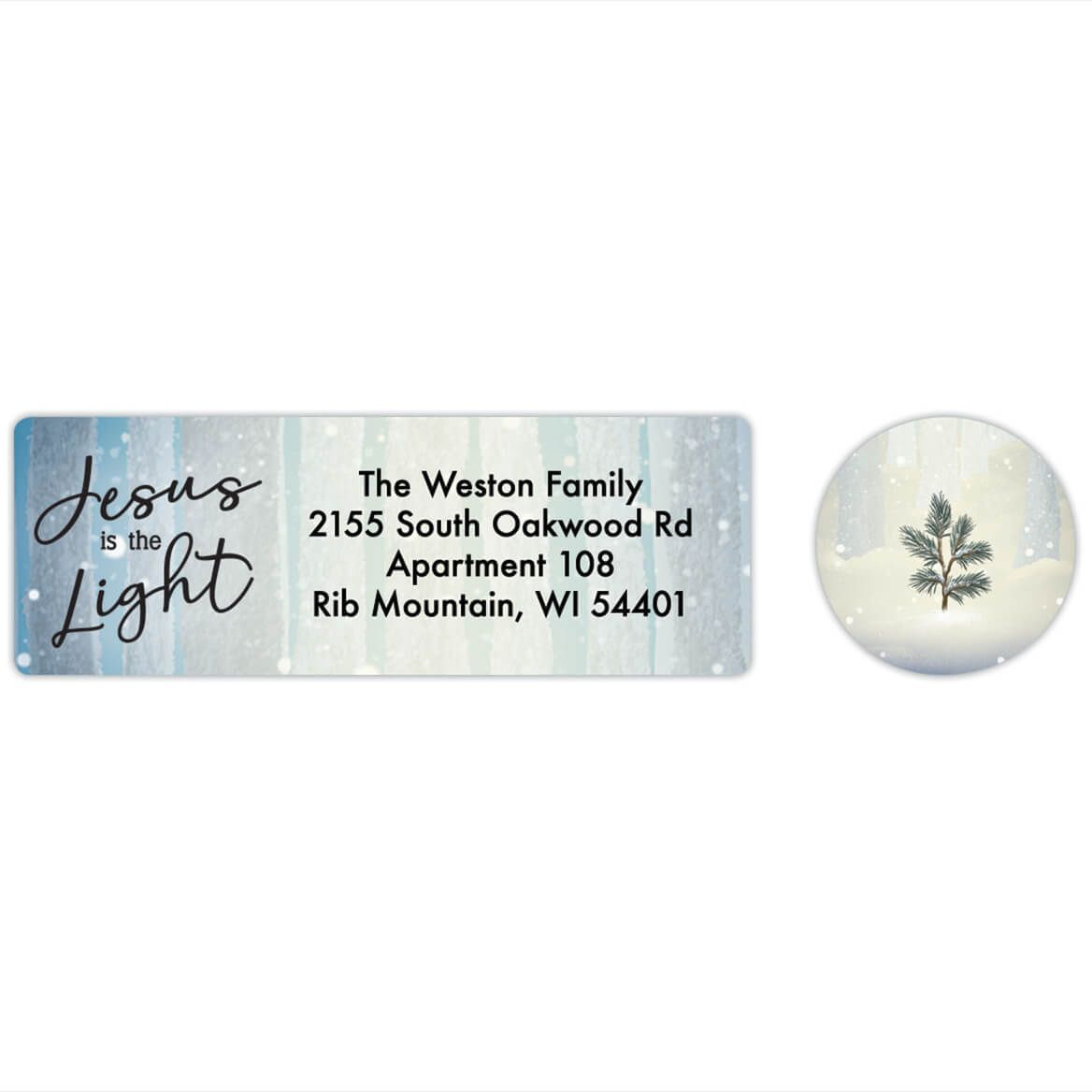 Personalized He is the Light Labels & Envelope Seals 20-368275