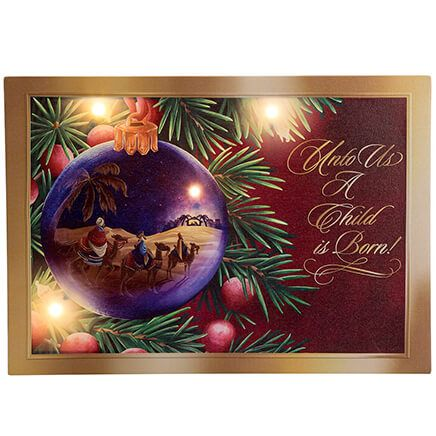 Nativity Ornament Lighted Canvas by Holiday Peak™-368410