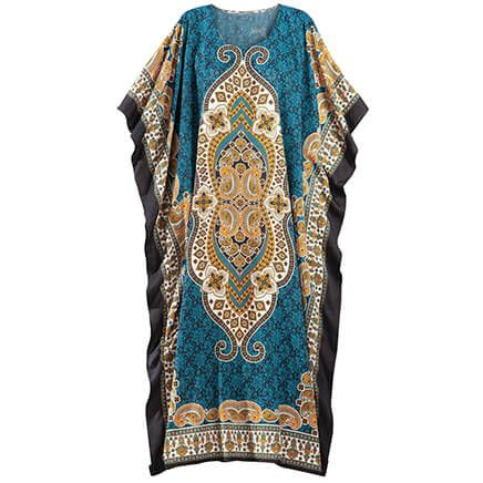 Teal Print Caftan by Sawyer Creek-368703