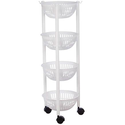 Rolling 4 Tier Kitchen Organizer by Chef's Pride-368826