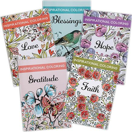 Inspirational Coloring Books, Set of 5-368865