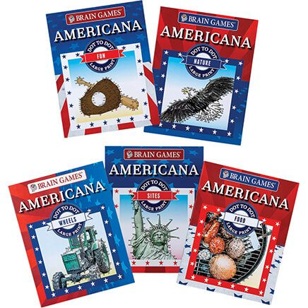 Brain Games® Large Print Americana Dot-to-Dot Set of 5-368866