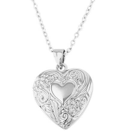 Silver Heart-Shaped Locket-368904