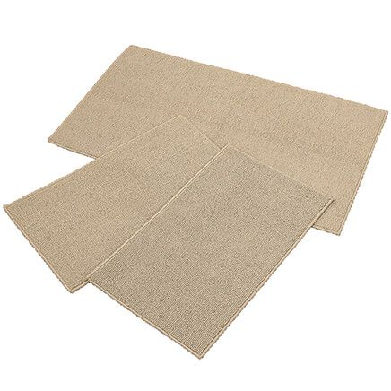 Rugby Solid Colored Rug by Oakridge®, Sand Set of 3-369100