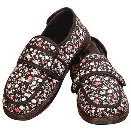 Silver Steps™ Floral Adjustable Edema Slipper-369287