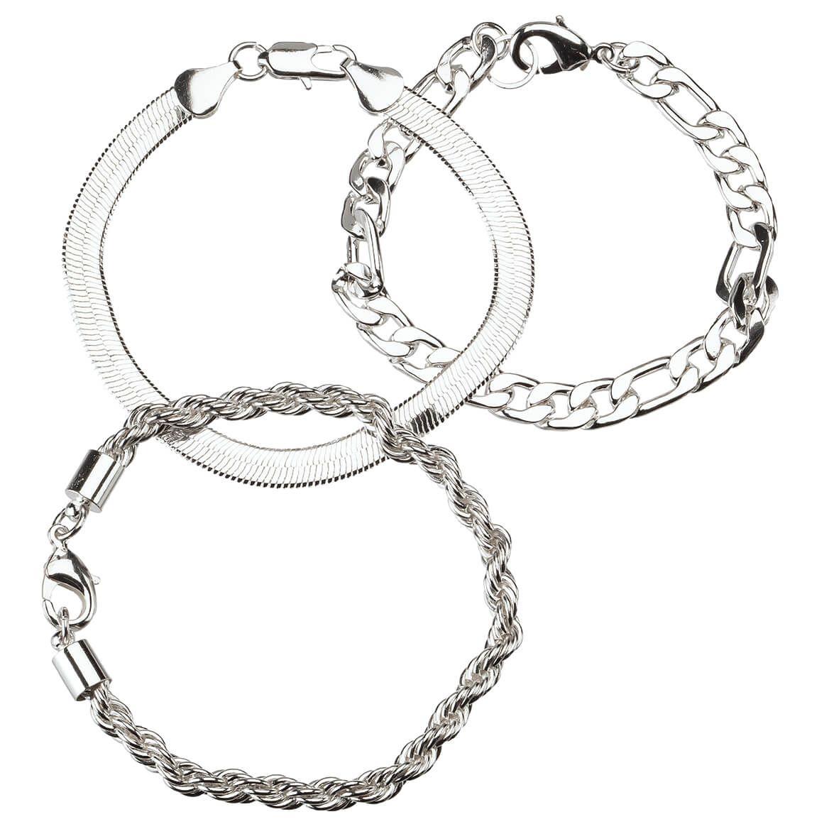 Silver Plated Bracelet Set of 3-369321
