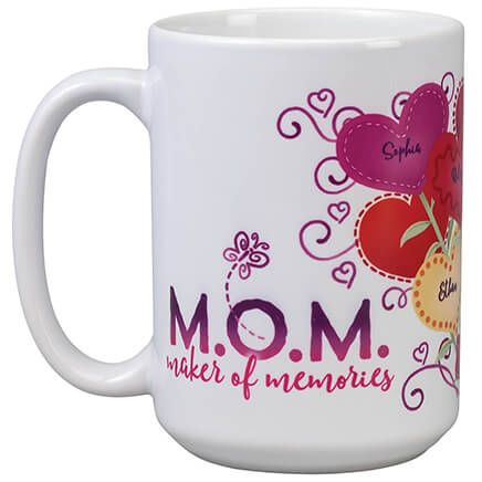 Personalized M.O.M. Heart Bouquet Mug-369377